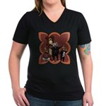 Hickory, Dickory, Dock Women's V-Neck Dark T-Shirt
