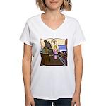 HDD Safe At Last! Women's V-Neck T-Shirt