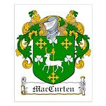 MacCurten Family Crest Small Poster