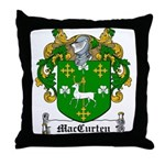 MacCurten Family Crest Throw Pillow
