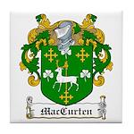 MacCurten Family Crest Tile Coaster
