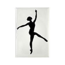 Ballerina Rectangle Magnet