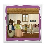 Goldilocks &amp; The 3 Bears Tile Coaster