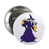 "Merlin the Wizard Picture 2.25"" Button"