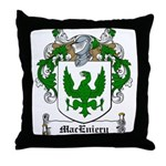 MacEniery Family Crest Throw Pillow