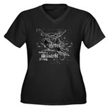 The Raven Women's Plus Size V-Neck Dark T-Shirt
