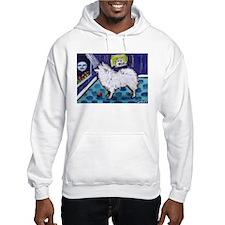 American Eskimo Dog cs moon Hoodie