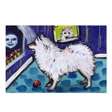 American Eskimo Dog cs moon Postcards (Package of