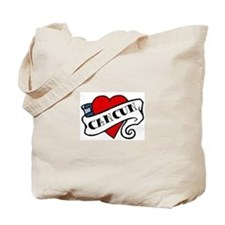 Cancun tattoo heart Tote Bag