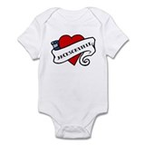 Jacksonville tattoo heart Infant Bodysuit