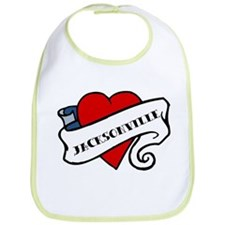 Jacksonville tattoo heart Bib