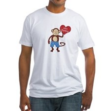 Love Monkey Boy Heart Shirt