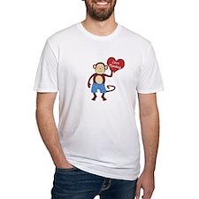 Love Monkey Boy Heart Shirt