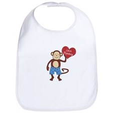 Love Monkey Boy Heart Bib
