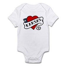 Kansas tattoo heart Infant Bodysuit