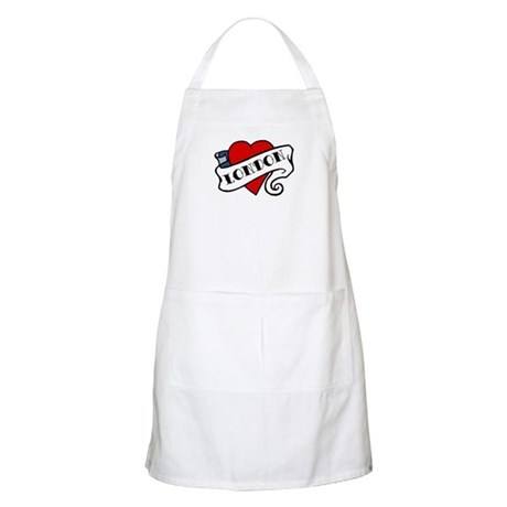 London tattoo heart BBQ Apron