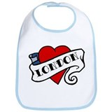 London tattoo heart Bib