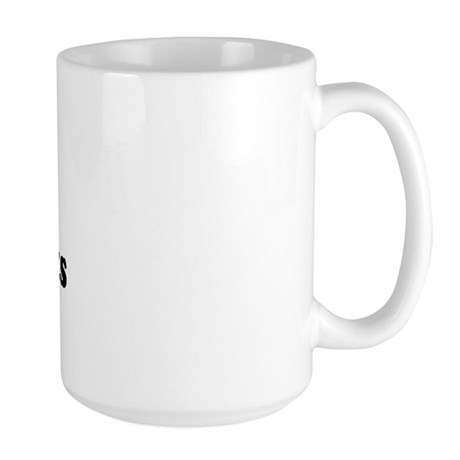 I Love [Heart] Back Seats Large Mug