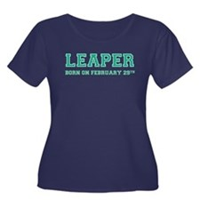 Sports Leaper Women's Plus Size Scoop Neck Dark T-