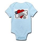 Santa Barbara tattoo heart Onesie