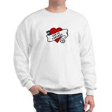 Santa Barbara tattoo heart Sweater