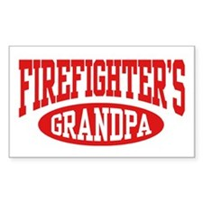 Firefighter's Grandpa Rectangle Decal
