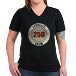 Lifelist Club - 250 Women's V-Neck Dark T-Shirt
