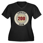 Lifelist Club - 200 Women's Plus Size V-Neck Tee