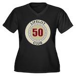 Lifelist Club - 50 Women's Plus Size V-Neck Tee