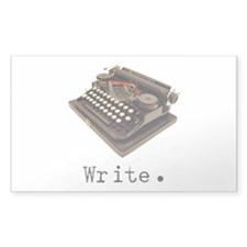 Typewriter Rectangle Decal