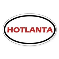 Hotlanta Oval Decal
