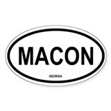 Macon Oval Decal
