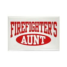 FireFighter's Aunt Rectangle Magnet