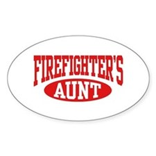 FireFighter's Aunt Oval Stickers