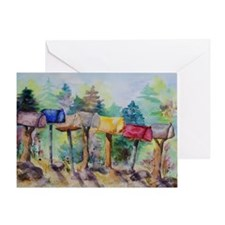 Country Mailboxes Birthday Card