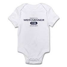 Property of Weimaraner Baby Bodysuit