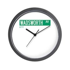 Wadsworth Avenue in NY Wall Clock