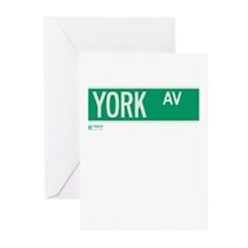 York Avenue in NY Greeting Cards (Pk of 20)