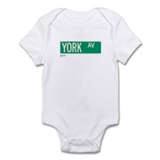 York Avenue in NY Infant Bodysuit