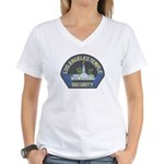 Mormon Temple Security Women's V-Neck T-Shirt