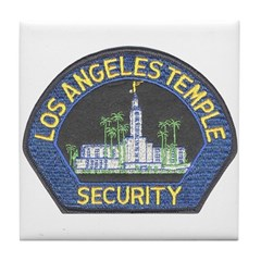 Mormon Temple Security Tile Coaster