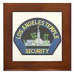 Mormon Temple Security Framed Tile