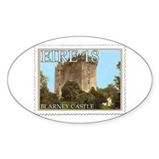 Faux Vintage Irish Postage Stamp Oval Decal