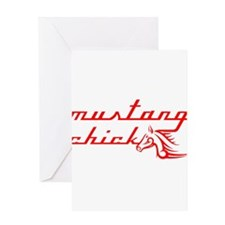 Mustang Chick Greeting Card