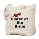 Hearts Sister of the Bride Tote Bag