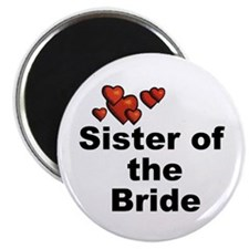Hearts Sister of the Bride Magnet