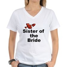 Hearts Sister of the Bride Shirt
