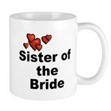 Hearts Sister of the Bride Small Mug