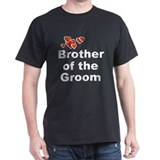 Hearts Brother of the Groom T-Shirt