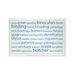 Birding Tag Cloud Rectangle Magnet